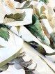 Green Silk Floral Elegant Scarf