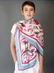 Fuchsia Silk Elegant Abstract Scarf