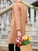 Solid Wool Blend Symmetric Simple Long Sleeve Coat