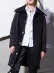 Black Statement Cotton-blend Letter Coat