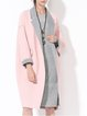 Elegant Lapel Cocoon Long Sleeve Coat