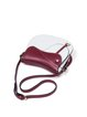 Red-White Casual Small Color-c-block Cowhide Leather Crossbody