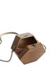 Brown Simple Mini Wooden Crossbody