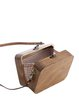 Brown Simple Wooden Square Mini Crossbody