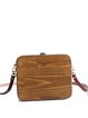 Brown Small Simple Wooden Square Crossbody