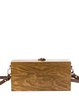 Brown Plain Square Simple Small Wooden Crossbody