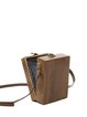 Brown Square Wooden Simple Mini Crossbody