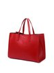 Solid Square Cowhide Leather Magnetic Medium Simple Tote
