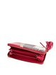 Red Retro Mini Printed Cowhide Leather Wallet