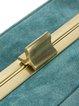 Aqua Frinted Faux Suede Clasp Lock Retro Crossbody