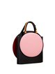 Small Color-block Cowhide Leather Statement Snap Crossbody
