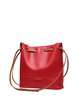 Solid Zipper Casual Panelled Cowhide Leather Shoulder Bag
