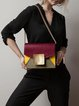 Small Magnetic Casual Color-block Cowhide Leather Shoulder Bag