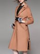 Lapel H-line Long Sleeve Slit Elegant Coat