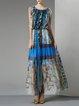 Tribal Vintage Silk Sleeveless Maxi Dress