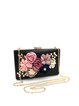 Black Appliqued Evening Clutch