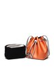 Casual Small Cowhide leather Drawstring Bucket Crossbody