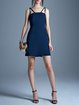 Simple Sheath Spaghetti Mini Dress