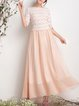 Champagne Sweet A-line Maxi Dress