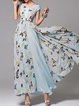 Floral Sleeveless Beach Maxi Dress