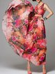 Red V Neck Floral-print Boho Floral Maxi Dress