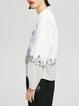 Beige Paneled Casual Spandex Sweatshirt