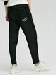 Black Pockets Polyester Casual Track Pants