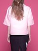 Pink Crew Neck Half Sleeve Plain Appliqued T-Shirt