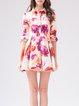 Long Sleeve Girly V Neck Mini Dress