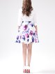 Purple Floral A-line Sweet Mini Skirt