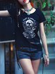 Short Sleeve Casual Tribal Printed T-Shirt