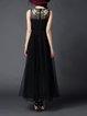 Black Floral Evening Evening Dress