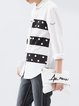 Printed Casual Polka Dots Long Sleeve Blouse