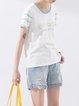 Casual Cotton Animal Print Crew Neck Short Sleeve T-Shirt