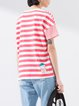 Red Stripes Casual T-Shirt