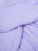 Elegant Chiffon Short Sleeve Swing Maxi Dress