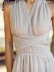 Gray Beach Plain Halter Maxi Dress