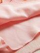 Pink Floral Silk Casual Midi Dress