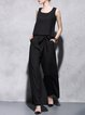 Simple Pockets Two Piece Sleeveless Jumpsuit