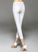 White Sheath Casual Skinny Leg Pants