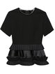 Black Tiered Short Sleeve Tunic