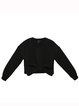 Black Bow Crew Neck Plain Long Sleeved Top
