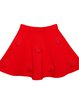 Red Casual Appliqued Plain Mini Skirt