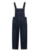 Blue Casual Pockets Overall