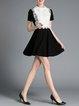 Black Casual Spandex Mini Dress