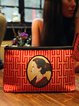 Red Small Casual Cotton Clutch