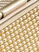 Golden Casual Mini Aluminum Sequins Clutch