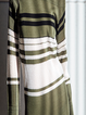 Green Nylon Buttoned Off Shoulder Casual Midi Dress
