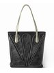 Black Snap Casual Tote