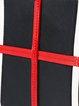 Black Casual Zipper Shoulder Bag